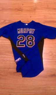 Daniel Murphy New York Mets team issued jersey MLB hologram 2011