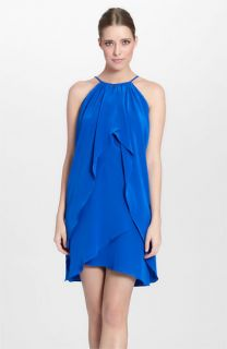 Cynthia Steffe Dionna Draped Silk Halter Dress