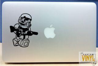 Lego Storm Trooper   Vinyl Macbook / Laptop Decal Sticker Graphic