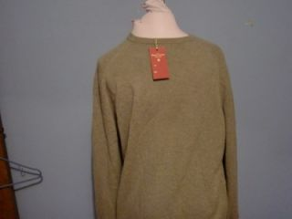 Daniel Cremieux 100 Cashmere Men V Neck Super Soft Sweater Light Olive