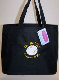 Baseball or Softball Your Custom Team Colors Tote Bag