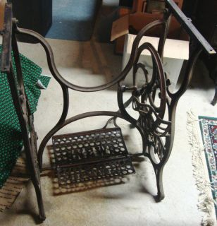 Vintage New Home Treadle Sewing Machine Base