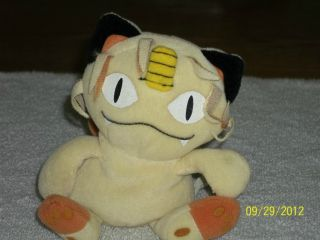 Pokemon Meowth Plush Japan Anime Toy Cute Cat Doll stuffed Animal NEW