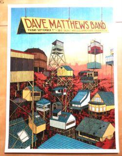 2012 DAVE MATTHEWS BAND CHULA VISTA LANDLAND SAN DIEGO CONCERT POSTER