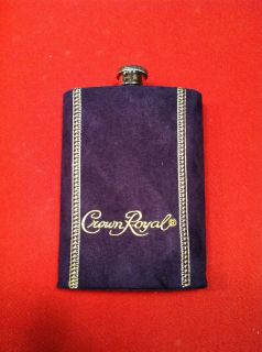 Crown Royal Stainless Steel Flask Suede Whisky * Great Groomsmen Gift