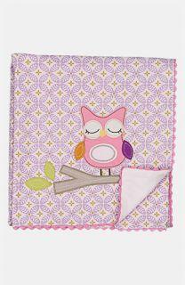 Living Textiles Owl Appliqué Blanket