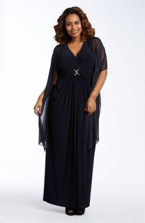 Alex Evenings Sleeveless Matte Jersey Gown (Plus)