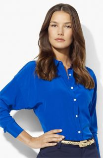 Lauren Ralph Lauren Dolman Sleeve Silk Blouse