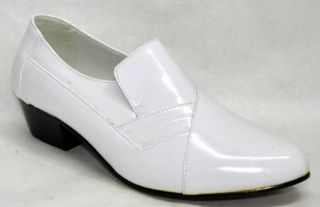 Italo by Globe Mens Leather Dress Shoes White Sz 9 5