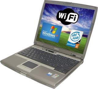 WIRELESS DELL LATITUDE D610 Laptop Notebook w Win XP Pro 100GB HDD 2GB