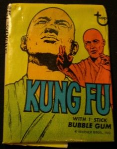 1970 s kung fu david carradine trading card pack
