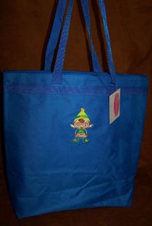 Christmas Elf Holiday Chocolate Chip Cookies Large Zipper Tote Bag NWT