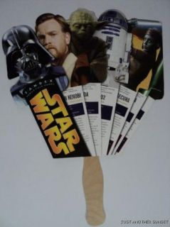 Star Wars Fandex Fan SDCC 2011 Darth OBI Wan Kenobi Yoda R2D2 Aayla