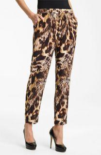 Yigal Azrouël Leopard Print Silk Crepe Pants