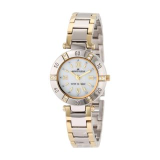 Anne Klein Crystal Two Tone Womens Stainless Steel Case Watch 10