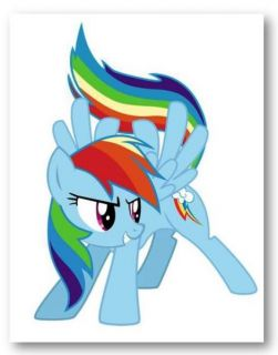 LITTLE PONY: FRIENDSHIP IS MAGIC   RAINBOW DASH   Hand Painted Canvas