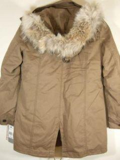 Andrew Marc New York Hyde Field Jacket Womens Black Khaki Beige Small