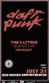Daft Punk Red Rocks 2007 Concert Poster