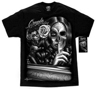 Cali Life Sugar Skull David Gonzales Homies T Shirt M 4XL