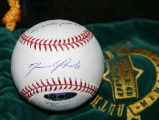 Upper Deck David Price Signed OML Baseball Autograph Tampa Bay Rays