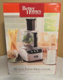 Better Homes Gardens 10 Cup Food Processer FPBHGD ZSO Silver Color New