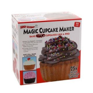 Giant Magic Cupcake Maker Red Silicone Pan with Easy Filling Insert