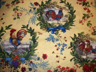 Rooster French Country Kitchen Table Runner dresser scarf valance