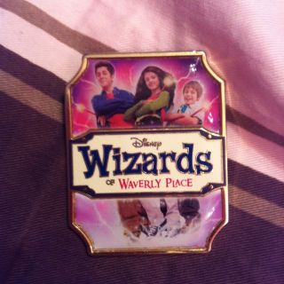 Wizards of Waverly Place Logo Selena Gomez David Henrie Pin