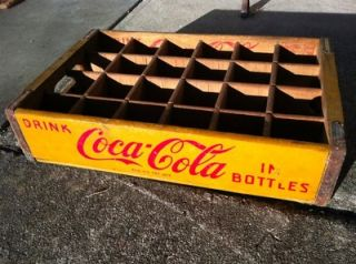 Wooden Soda Pop Coca Cola Bottle Carrier Crate Chattanooga