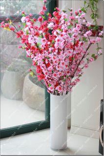 Artificial Cherry Plum Spring Peach Blossom Spray Branch Silk Flower