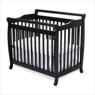 DaVinci Emily Mini 2 in 1CONVERTIBLE Wood Baby w Bed Rail Ebony Crib