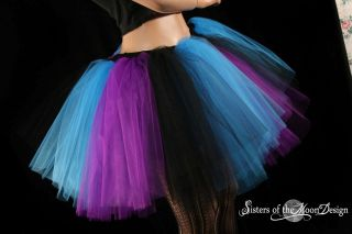 Tutu Purple Black Roller Derby Rave Dance Ballet Adult