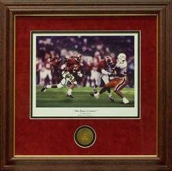 Alabama Football Deuce Is Loose Autograph Palmer Framed