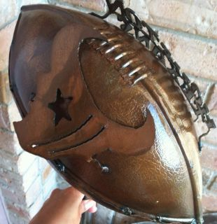 Houston Texans Dallas Cowboys Fans Metal Sculpted Football Decor