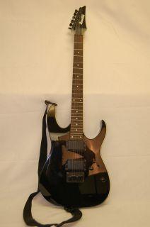 Ibanez Gio Metal Flake Black 6 String Electric Guitar w Soft Case Used