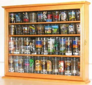 Shot Glass Shooter Glass Display Case Cabinet w Door