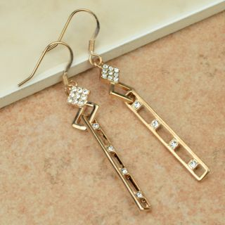 Elegant Swarovski Crystal 18K Rose Gold GP Dangle Earring 65095