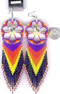 Navajo Beaded Dangle Earrings 57 Native American Jewelry