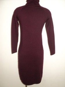 Talbots Fall Career Soft Burgundy Fine Merino Wool Turtleneck Sweater