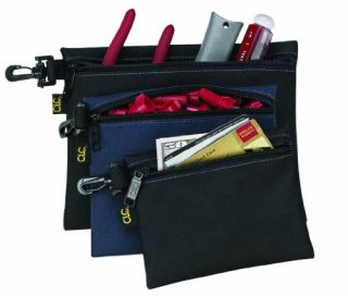 Custom Leathercraft 1100 Multi Purpose Clip on Zippered Poly Bags