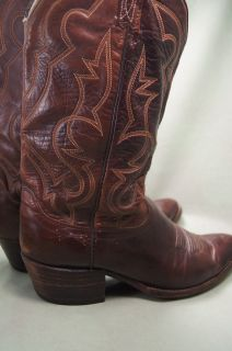 Dan Post Brown Leather 9 5 D Mens Western Boots