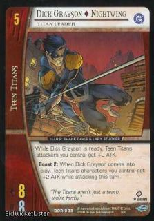 Nightwing Titan Leader Marvel Card Game 038 DC Origins TCG CCG