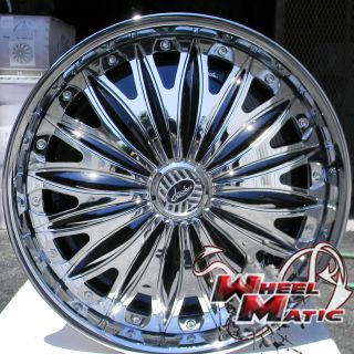 New Davin Dub Emotion Spinners 28 6x139 7 Chrome Rims Wheels Titan