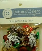 Christmas Theme Value Pack Buttons Scrapbook Crafts Candy Canes