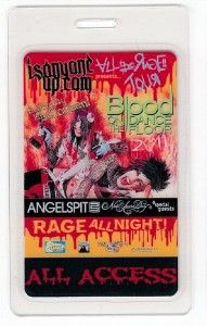 Blood on The Dance Floor Backstage Pass Angelspit VIP Rage All Night