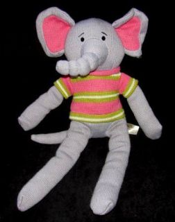 Dan Dee Collectors Choice Sock Monkey Style ELEPANT DanDee Plush Toy