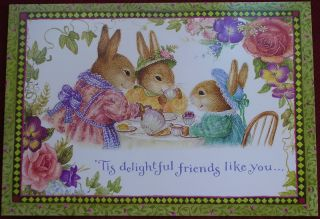 Susan Wheeler Holly Pond Hill Bunny Rabbits Friend Card