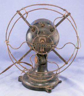 """Antique """"DAYTON"""" BRASS CAGE Electric Desk Fan parts/repair nr"""