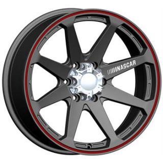 18x9 NASCAR Daytona 8x6 5 Black Red Rims Wheels 2500 3500 Dodge Chevy