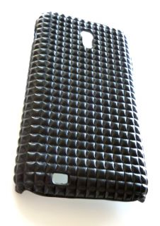 Designer Black Studded Leather Cover Case Samsung Galaxy s 2 Epic 4G